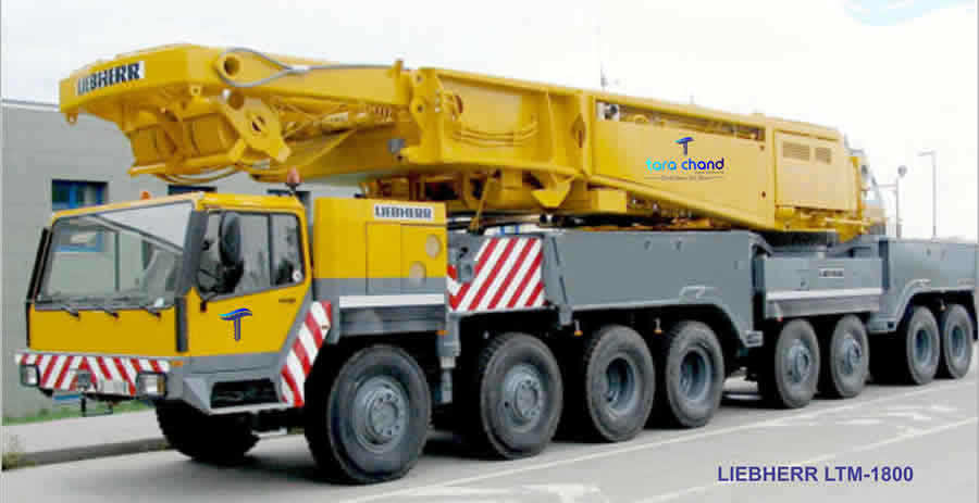 Make : LIEBHERR Model : LTM1800 Cap : 800 Qty : 1